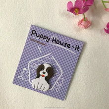 Office school supplier kawayi sticky note animal shaped memo pad dog shape