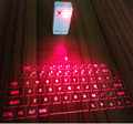 infrared wireless keyboard with full size projection keyboard screen