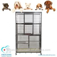 Hot sale factory low price vet stainless steel three layer cheap dog cage