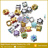 Wholesale Gold Silver Enamel Zinc Alloy Flower Loose DIY Beads For Jewelry Making