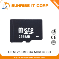 Taiwan Manufacturer supply 256mb class 4 sd micro memory card