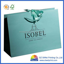 China Supplier Printing Recycle shopping Paper Bag With Logo Print