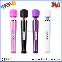 Hot Sale 10Speeds Rechargeable Full Body Magic Wand Women Using Sex Toy