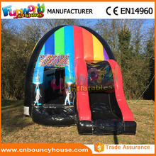 Inflatable jumping bed music disco dome for party