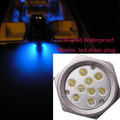 316 SS circle effect 27W led drain plug light IP68 waterproof marine underwater led light for boats
