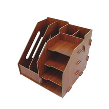 Handmade wooden stacking file rack book stand file tray