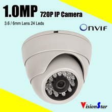 plastic 720p camera ip dome cctv indoor 1.0mp Video system HD 1000TVL