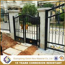 2017 steel pipe gate designs simple construction building materials safety iron door designs