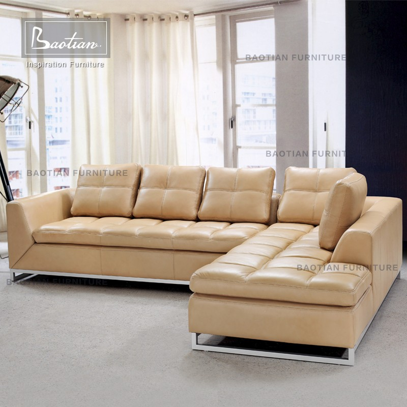 L-shape fashion chesterfield sofa sectional sofa 0347 for office furniture