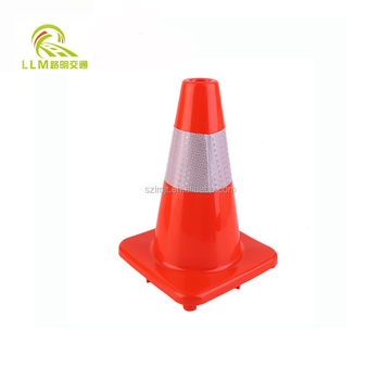 Red/black rubber traffic safety cone