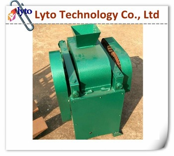 Rockstone applicable roll crushing stone breaker, laboratory double roller crusher machine