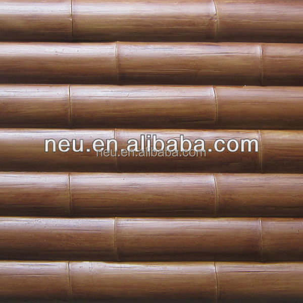 Faux PU art wall panels for house decoration bamboo style