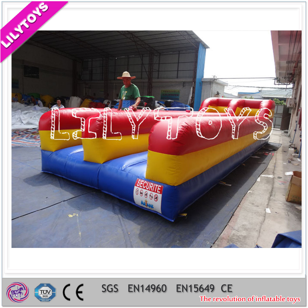 Fashion runway for sale, 2 lane inflatable bungee run for kids