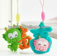 Fashion PVC Mobile Phone Pendant pvc cellphone pendants GFT-CP6406
