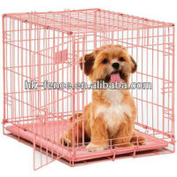 "Hot sale 36"" Pink Folding Dog Crate Cage Kennel"