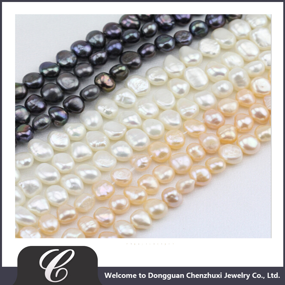 6-10mm baroque pearl strand,white,pink,black color,imitation pearl string,irregular nugget pearl,for jewelry making,