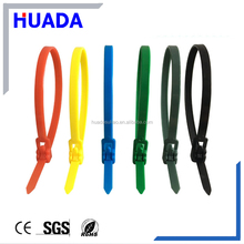 RT UL nylon 66 Releasable adjustable zip tie electric insulated cable strap wire wraps nylon cable ties