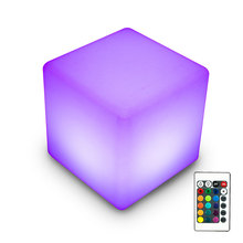 Waterproof led cube light, glowing LED cube chair, CE/ROHS/FCC/UL.
