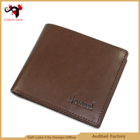 Multifuntion usage leather men wallet wholesale made in China