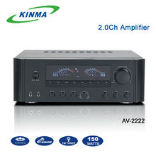 Stereo AV home use 2.0 amplifier for karaoke system