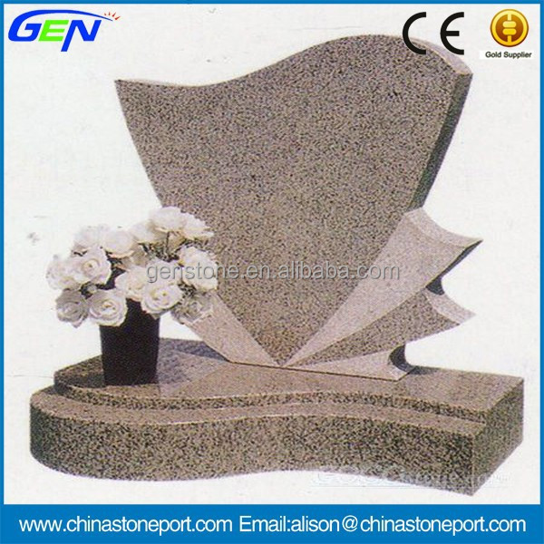Pink Color Granite Monument Gravestone