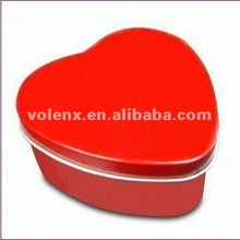 China Wholesale Weding need Metal Jewelry Gift Box for Sale Red Heart