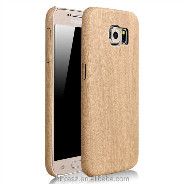 Bulk Buy From China Classic Wood Phone case for Samsung Galaxy S6 edge , Soft PU Leather Case For Samsung Galaxy S7