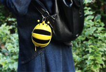 CT-657 bee shape small handbag Adornment for big bag cartoon small bag for keys