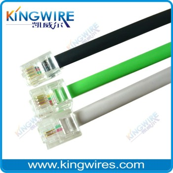 new design RJ11 patch cord cable cat5e/cat6 1m/2m/3m
