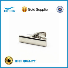 1'' tie clips with shiny silver color