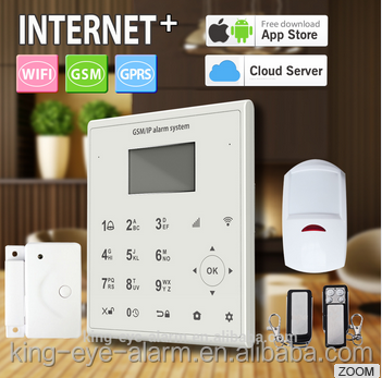 Easy to use 433 mhz low cost wireless gsm sms alarm system with motion detector