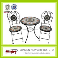 2015 Hot sell mosaic bistro table and chair outdoor furniture china