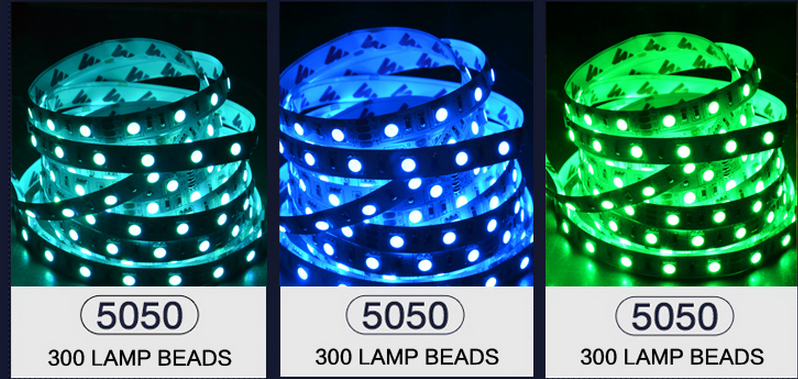 SMD 5050 LED STRIP 24Volt 5m/roll high brightness lighting