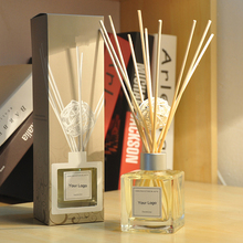Wholesale 150ml Decorative Glass Bottle Home Fragrance Reed Diffuser with Rattan stick