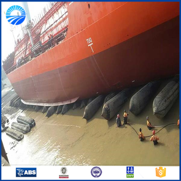 Boat launching equipment marine rubber airbag for ship launching
