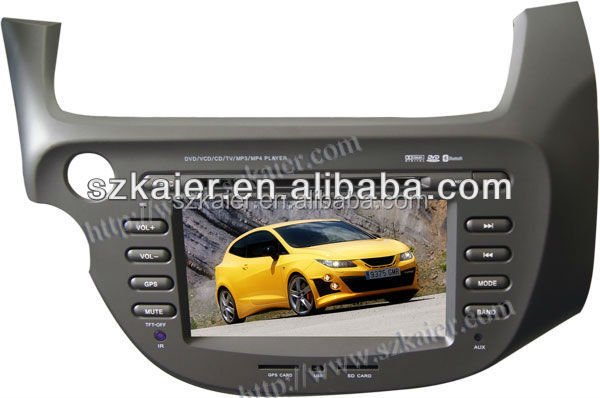 car mp4 player for Honda Fit/Jazz with GPS/Bluetooth/Radio/SWC/Virtual 6CD/3G internet/ATV/iPod/DVR