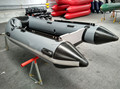 3.0m cheap 1.2mm pvc material dark grey inflatable boat with CE made in China