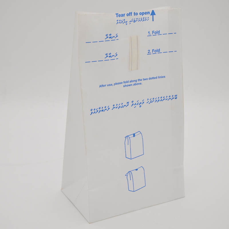 disposable paper airline sickness bag waterproof vomit