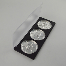 Sample Free High Quality Empty Clear Lid Empty Eyeshadow Palette 3 Color 59.1mm With Aluminum Pans