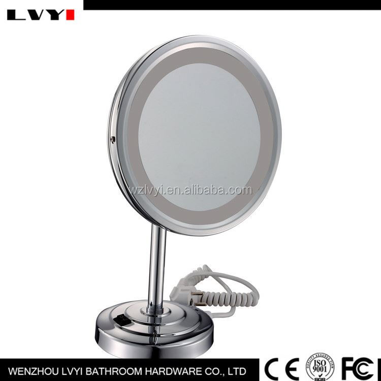 Factory Popular high safety wood hand mande pocket cosmetic mirror with different size