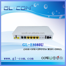 Epon wifi onu teknovus cortina chipset solution FTTH VOIP SIP Optical Network Unit
