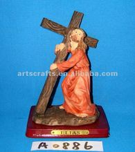 Religious figure with cross