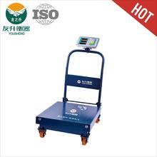YS-101weight platform scale Combination of trolley and electronic scales folding vertical bar and stainless steel indicator