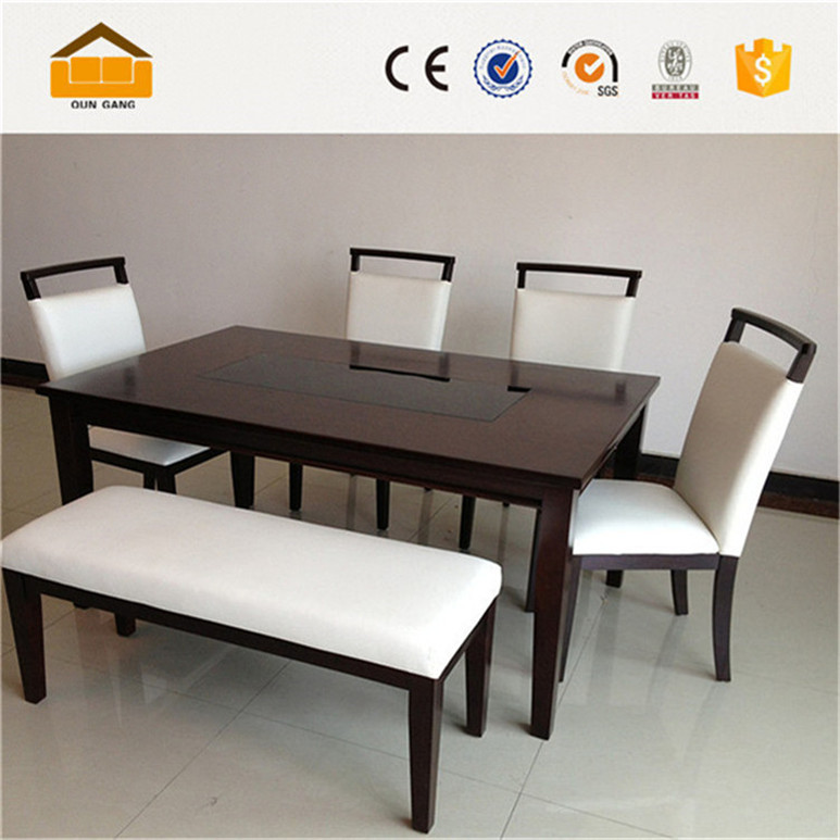 6 Seater Space Saving Dining Table Set