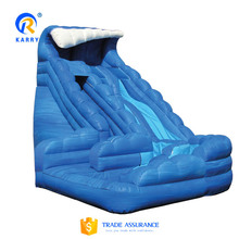 High water slide monster wave with pool,kids popular inflatable jumping slide,bounce round inflatable water slide for kids