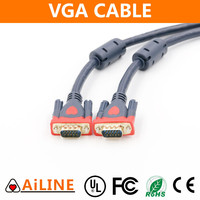 AiLINE Wholesale Price 100 Meters HD15 VGA Cable with Ferrite Cores