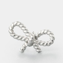 Twist bowknot silver charms DIY jewelry bracelet necklace connector making