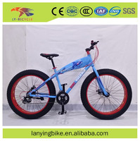 bicycle fat tire 26*4.0 18 speed steel frame alloy material rim with disc brake