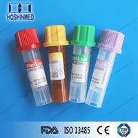 Additive EDTA/clot activator/lithium heparin/plain disposable micro blood tube