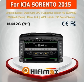 Hifimax for KIA SORENTO 2015 car dvd player gps navi WITH Quad Core CPU 16G Hard disk HD1024*600 capacitive screen